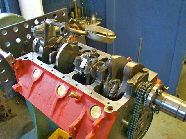 Chrysler M-80 Engine one of two fitted in a Riva speed boat undergoing a full overhaul.